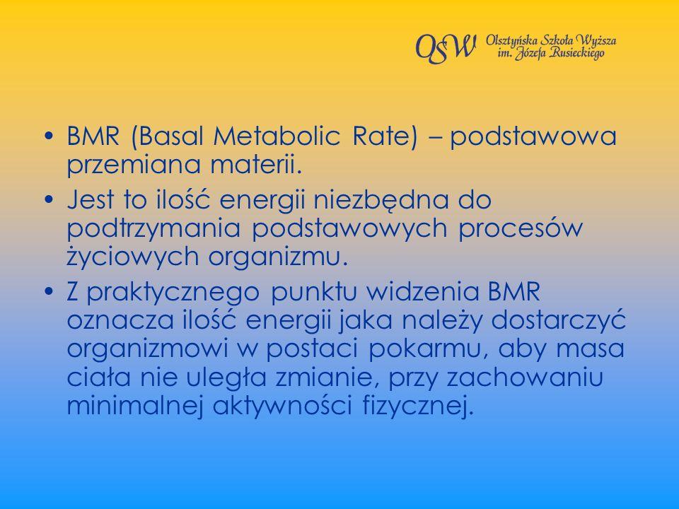 BMR (Basal Metabolic Rate) – podstawowa przemiana materii.