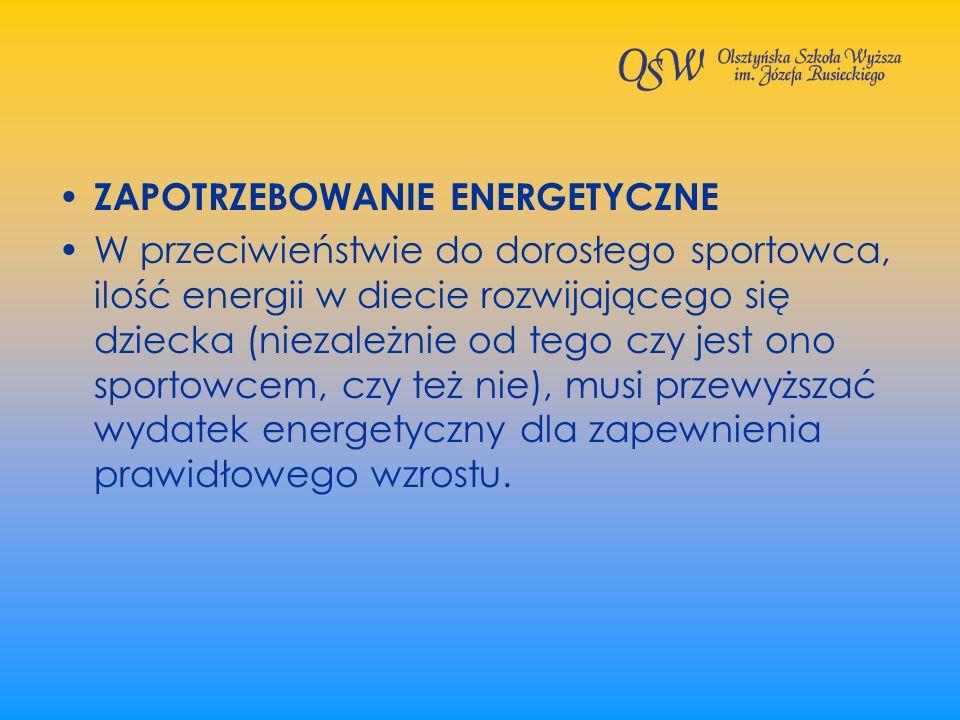 ZAPOTRZEBOWANIE ENERGETYCZNE