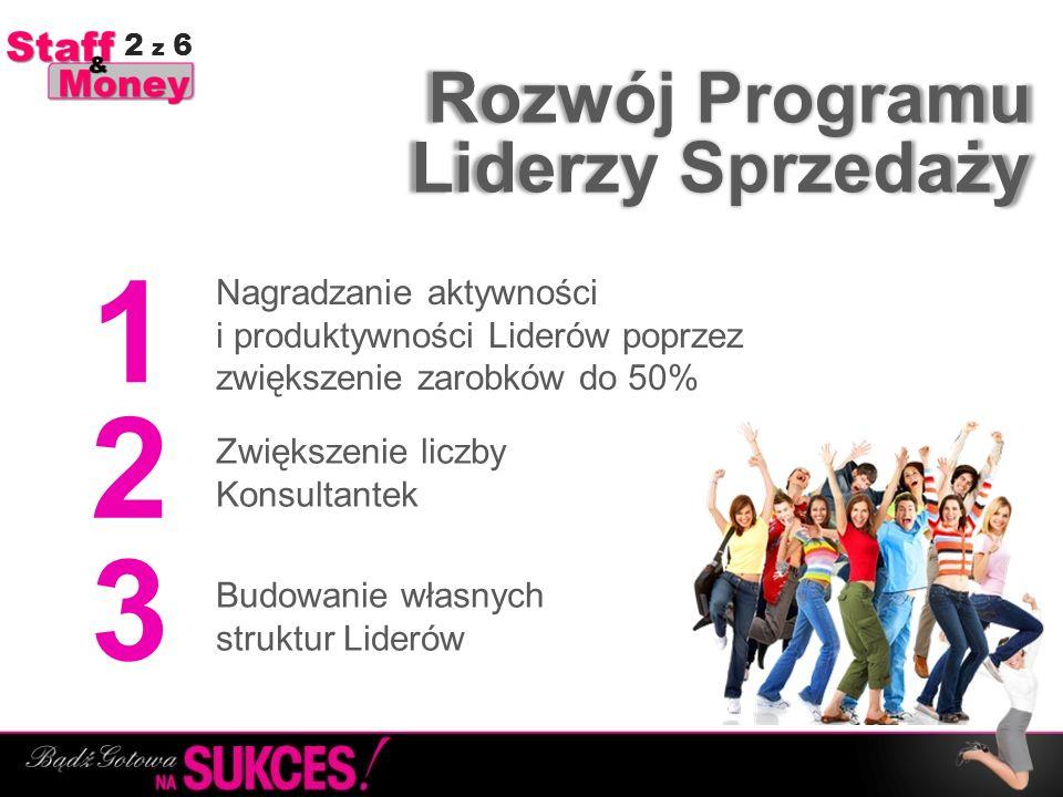 1 2 3 Rozwój Programu Liderzy Sprzedaży