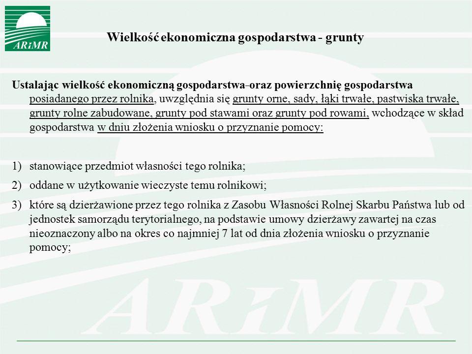 Wielkość ekonomiczna gospodarstwa - grunty