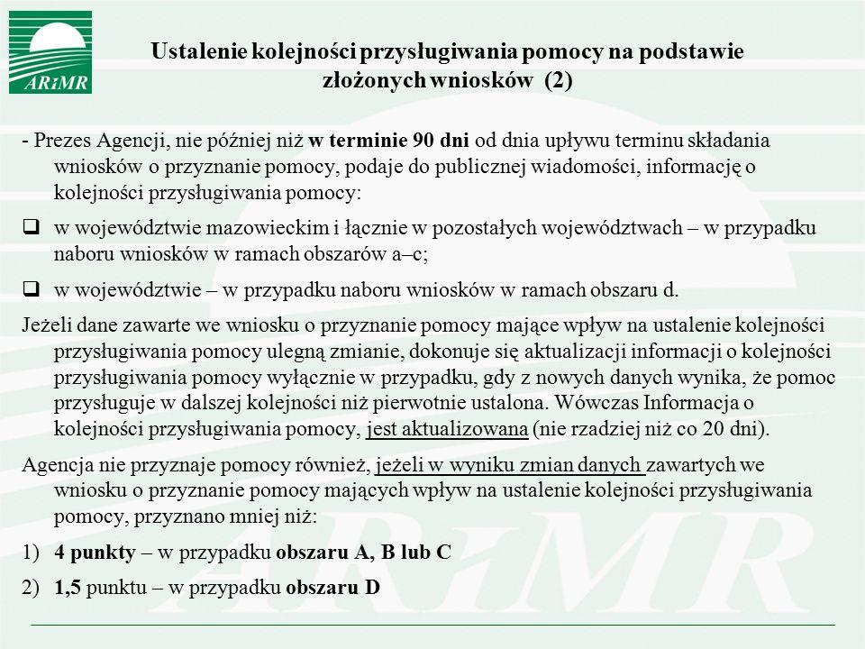 Ustalenie kolejności przysługiwania pomocy na podstawie złożonych wniosków (2)