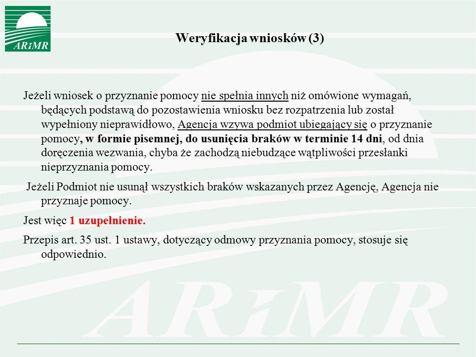 Weryfikacja wniosków (3)