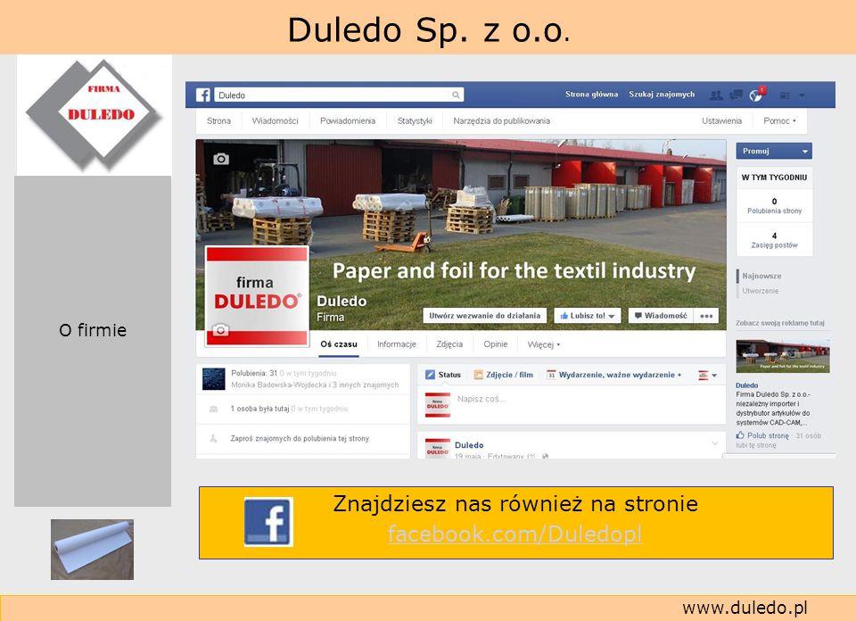 Znajdziesz nas również na stronie facebook.com/Duledopl