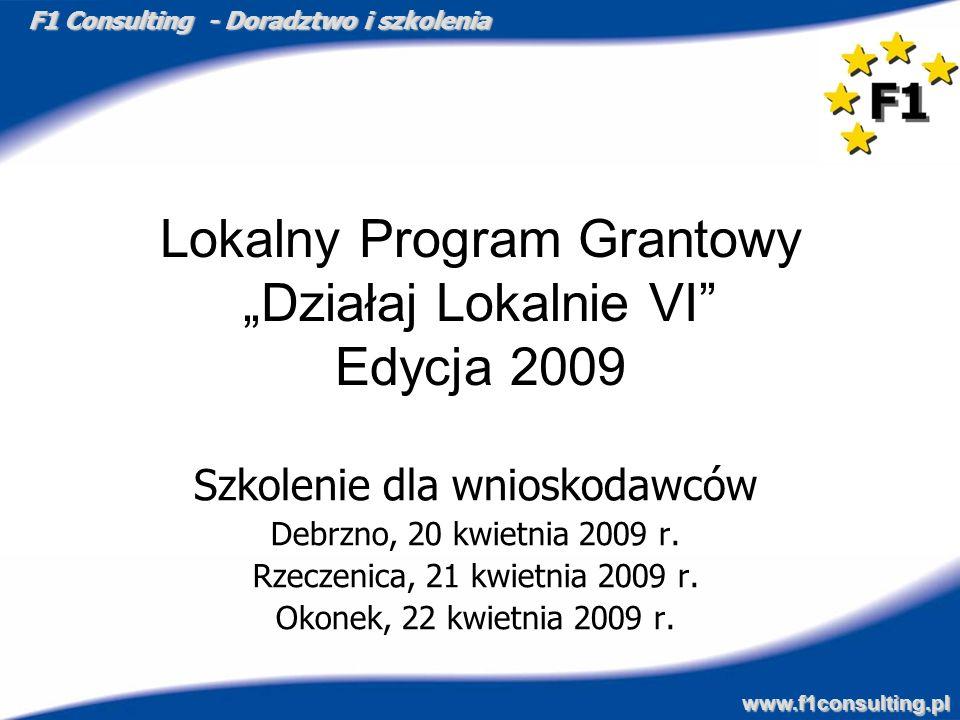 """Lokalny Program Grantowy """"Działaj Lokalnie VI Edycja 2009"""