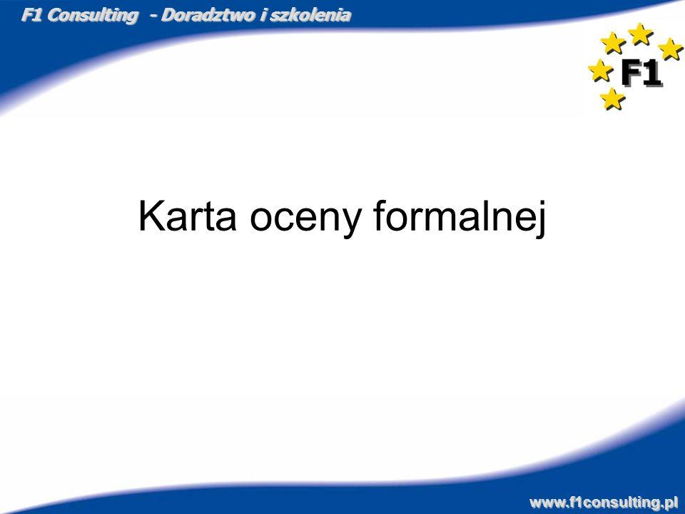 Karta oceny formalnej
