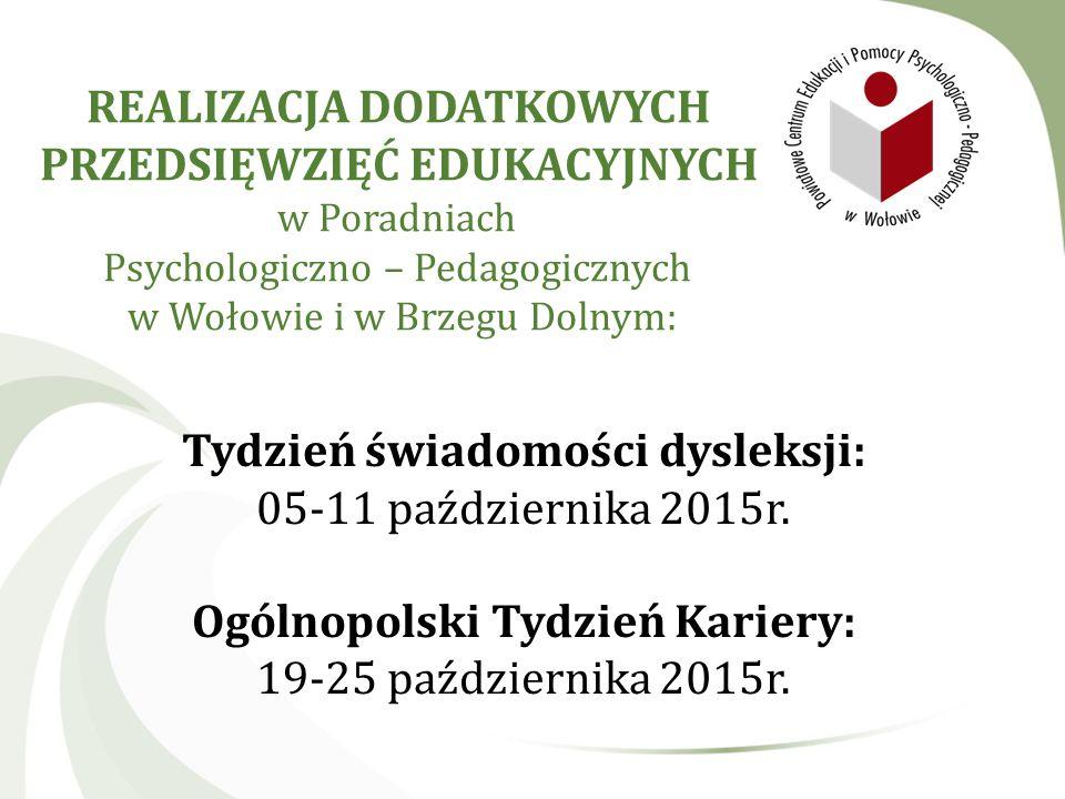 Tydzień świadomości dysleksji: Ogólnopolski Tydzień Kariery: