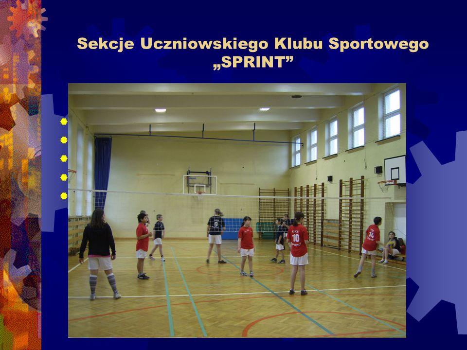 """Sekcje Uczniowskiego Klubu Sportowego """"SPRINT"""