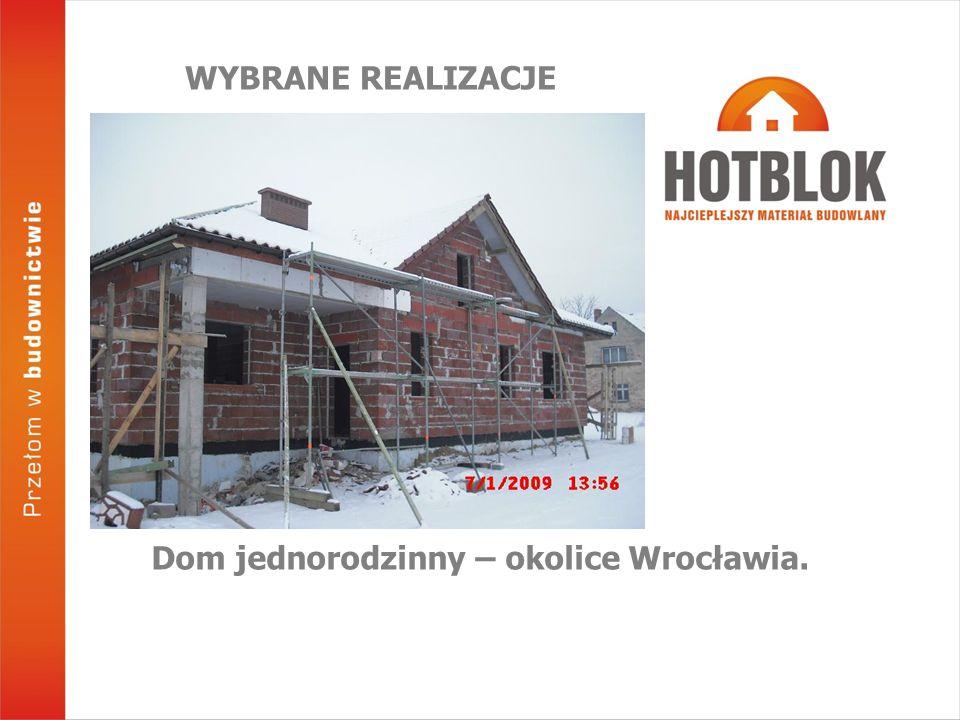 Dom jednorodzinny – okolice Wrocławia.