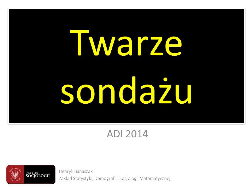 Twarze sondażu Twarze sondażu ADI 2014 Henryk Banaszak