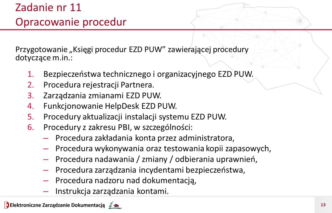 Zadanie nr 11 Opracowanie procedur