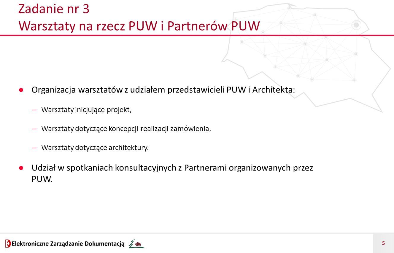 Zadanie nr 3 Warsztaty na rzecz PUW i Partnerów PUW