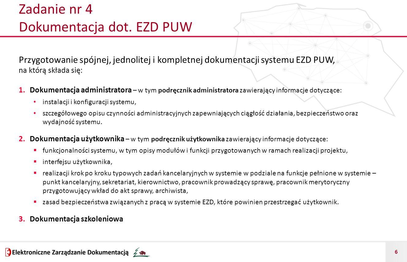 Zadanie nr 4 Dokumentacja dot. EZD PUW