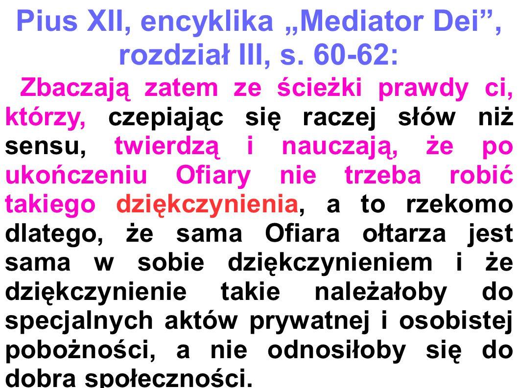 """Pius XII, encyklika """"Mediator Dei ,"""