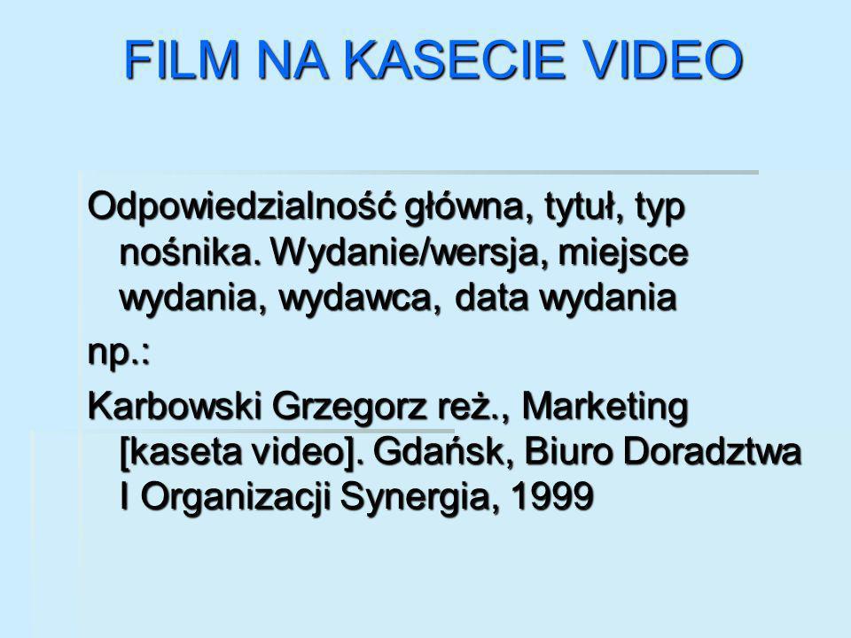 FILM NA KASECIE VIDEO