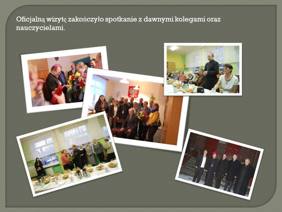 Oficjalną wizytę zakończyło spotkanie z dawnymi kolegami oraz nauczycielami.