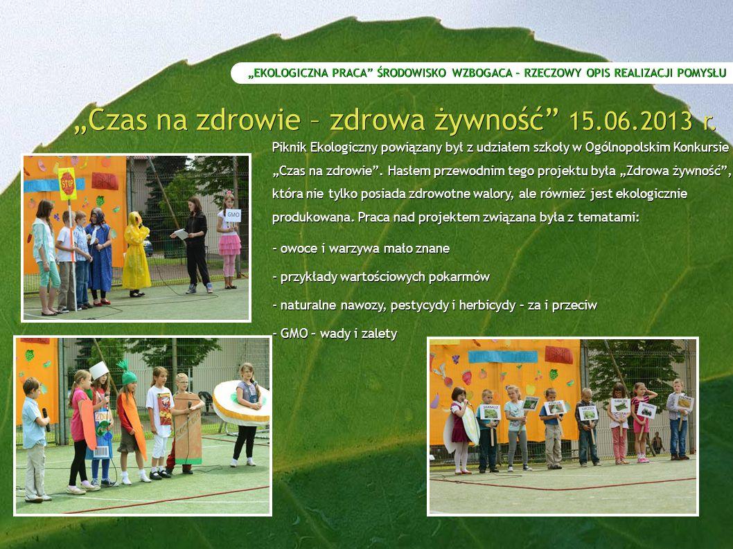 """""""Czas na zdrowie – zdrowa żywność 15.06.2013 r."""