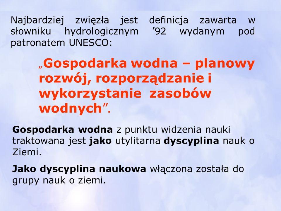 Najbardziej zwięzła jest definicja zawarta w słowniku hydrologicznym '92 wydanym pod patronatem UNESCO: