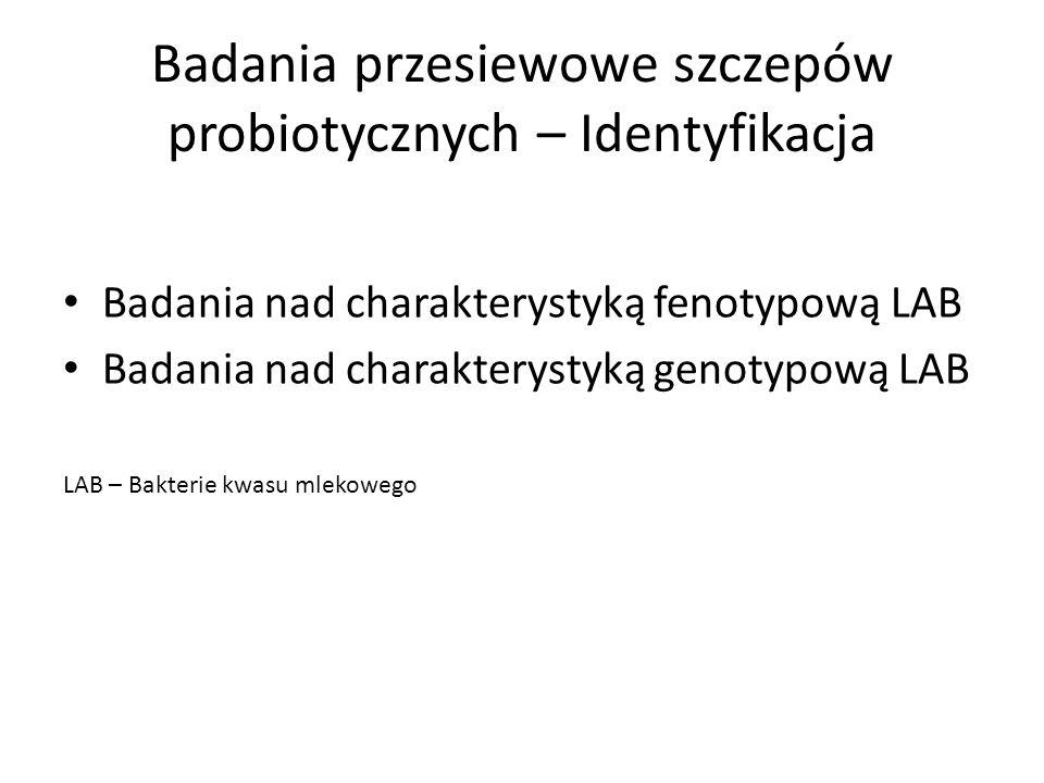 Badania przesiewowe szczepów probiotycznych – Identyfikacja
