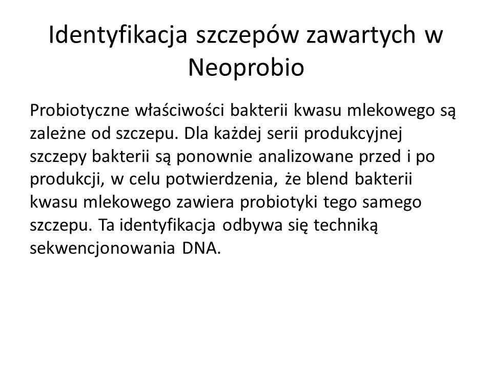 Identyfikacja szczepów zawartych w Neoprobio