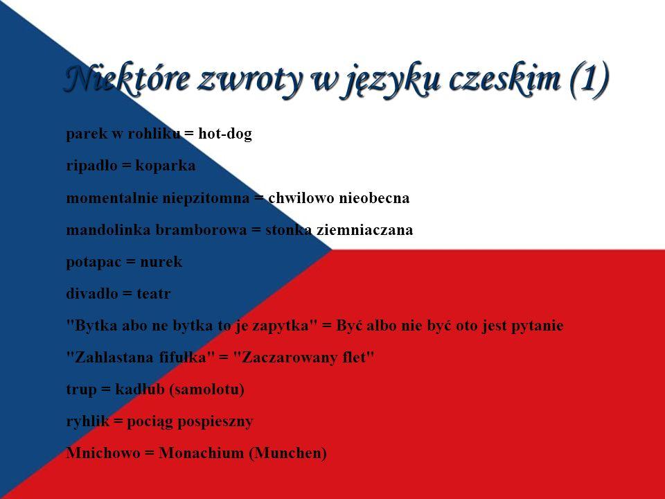 Niektóre zwroty w języku czeskim (1)