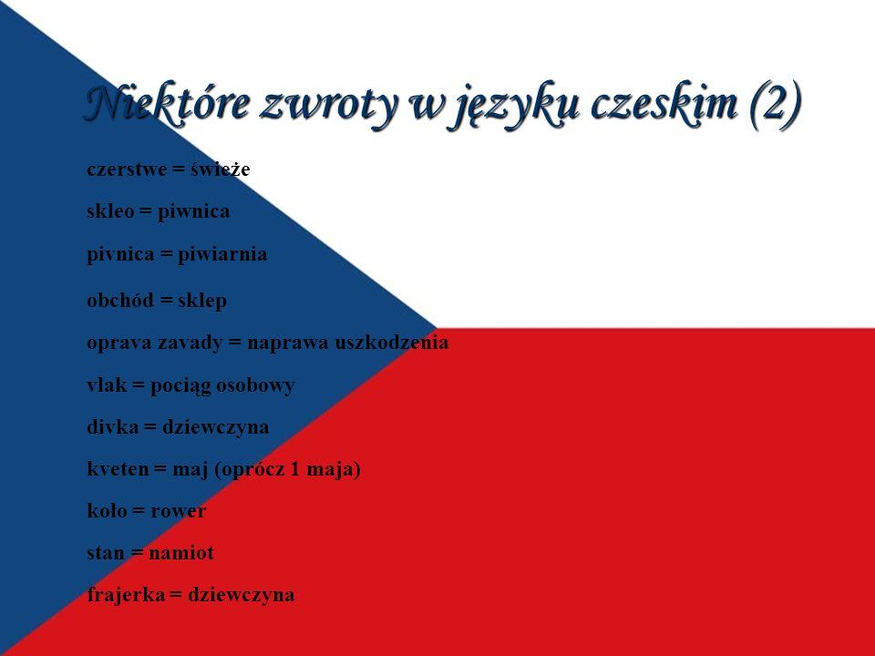 Niektóre zwroty w języku czeskim (2)