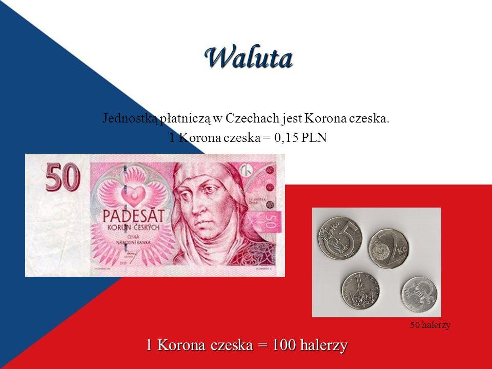 Waluta 1 Korona czeska = 100 halerzy