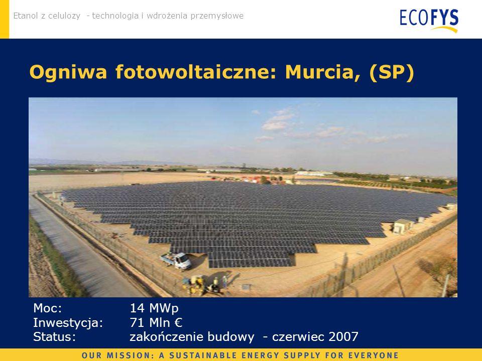 Ogniwa fotowoltaiczne: Murcia, (SP)