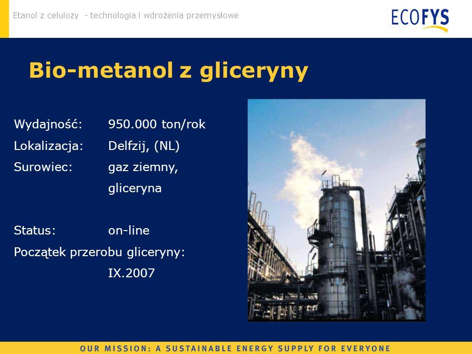 Bio-metanol z gliceryny
