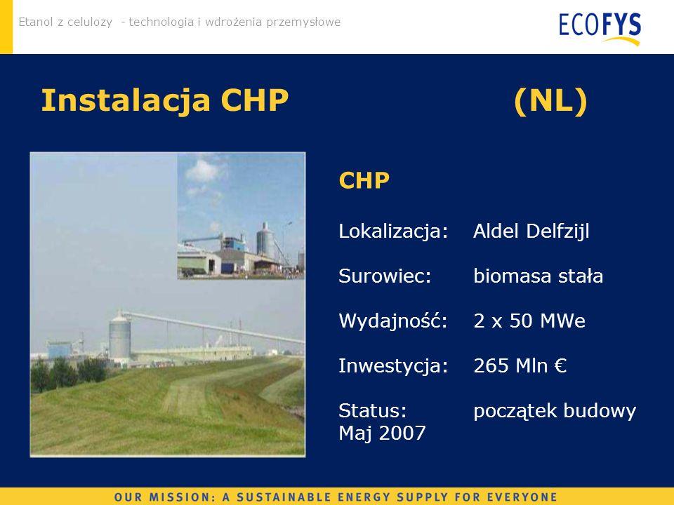 Instalacja CHP (NL) CHP Lokalizacja: Aldel Delfzijl