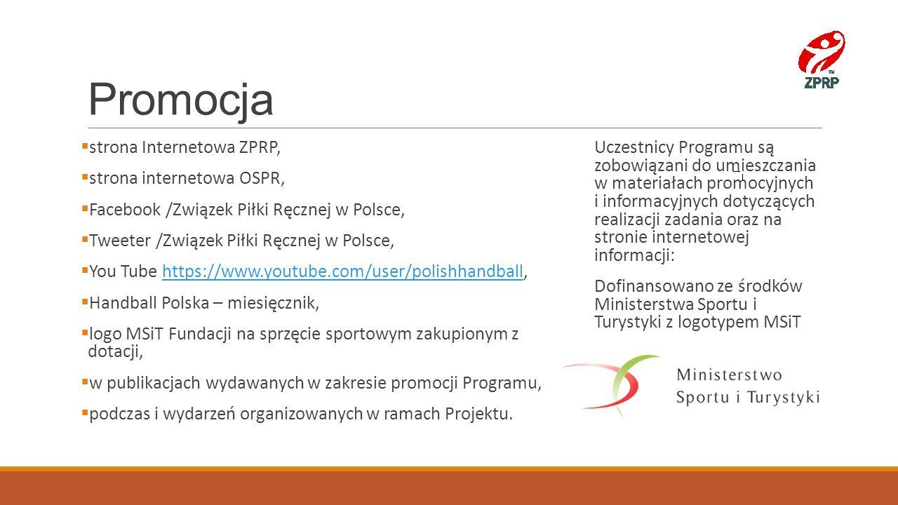 Promocja strona Internetowa ZPRP, strona internetowa OSPR,