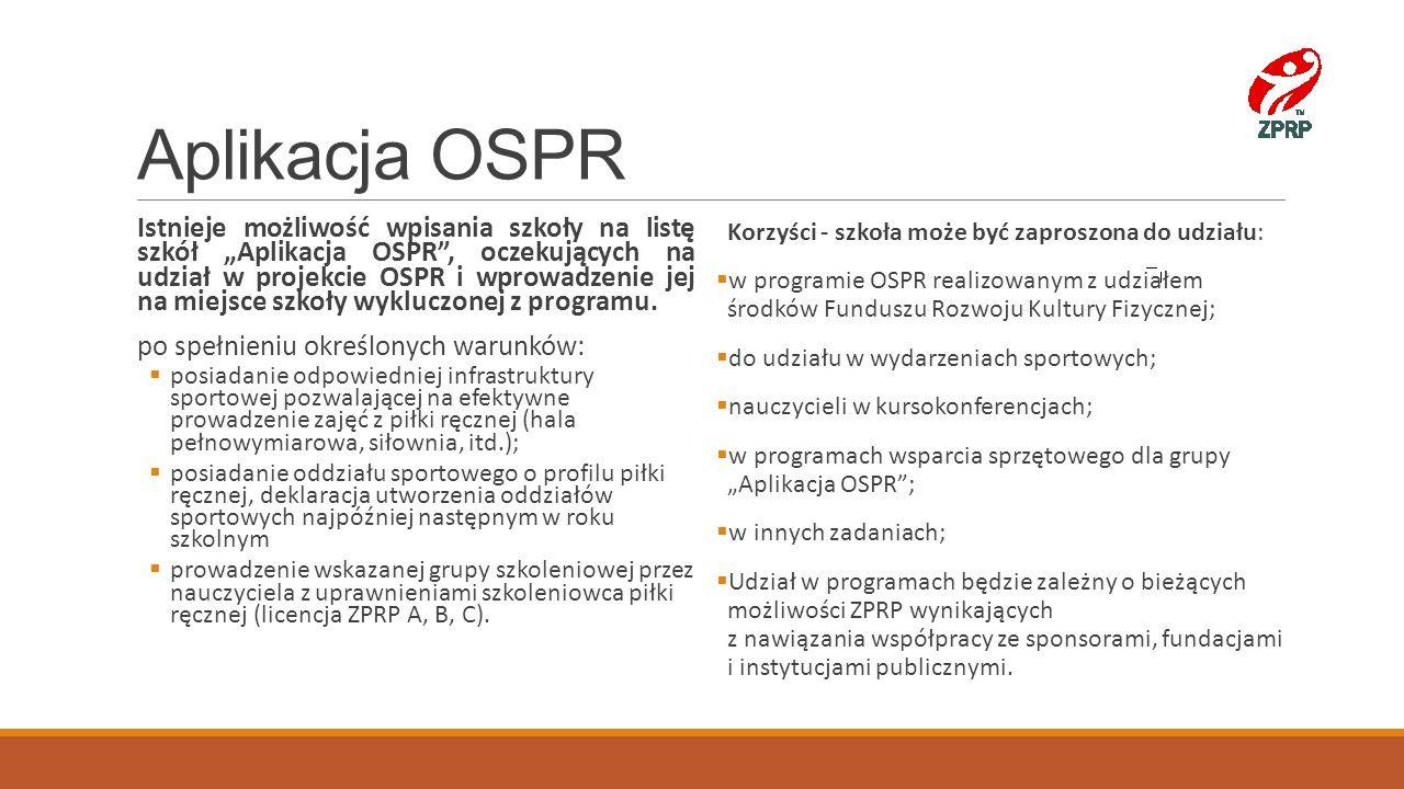 Aplikacja OSPR