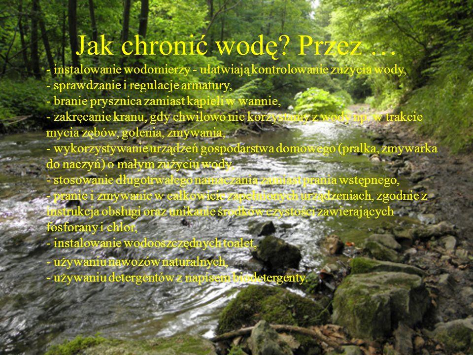 Jak chronić wodę Przez …