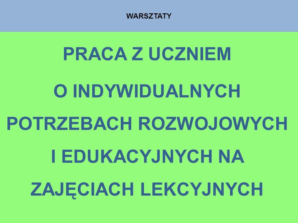 WARSZTATYPRACA Z UCZNIEM.