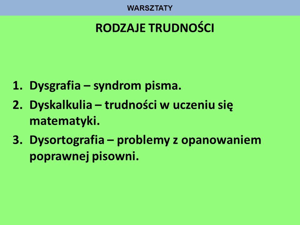 Dysgrafia – syndrom pisma.