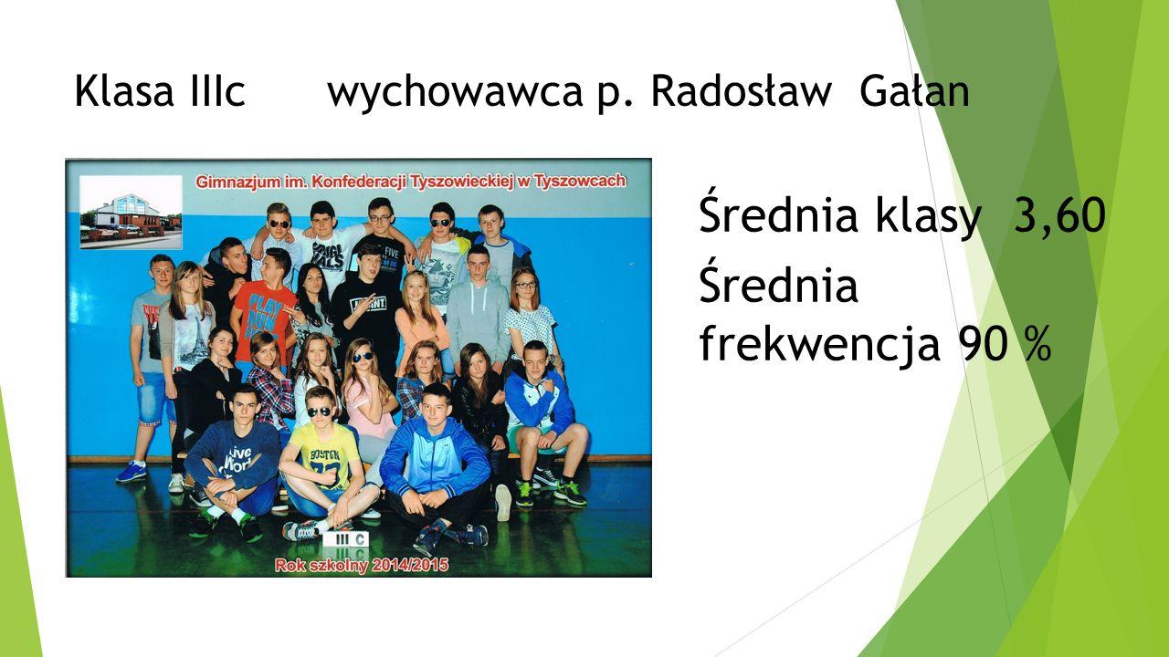 Klasa IIIc wychowawca p. Radosław Gałan