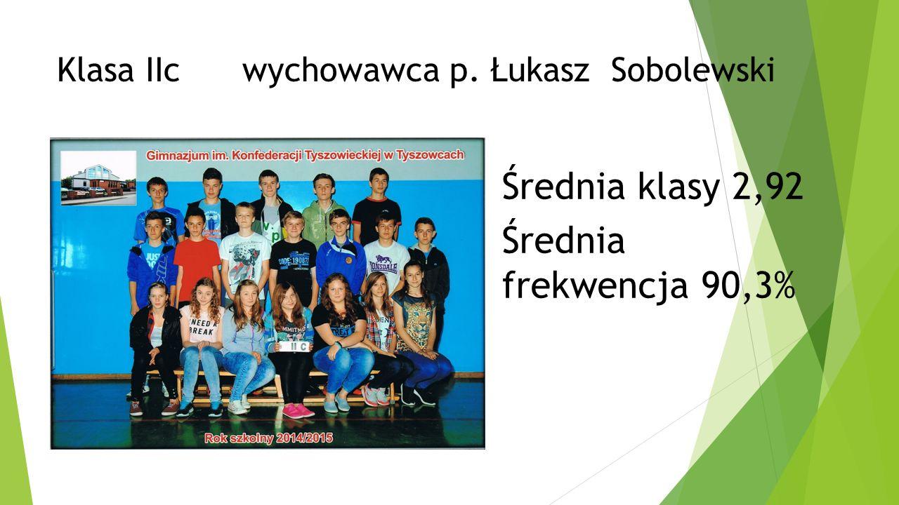 Klasa IIc wychowawca p. Łukasz Sobolewski