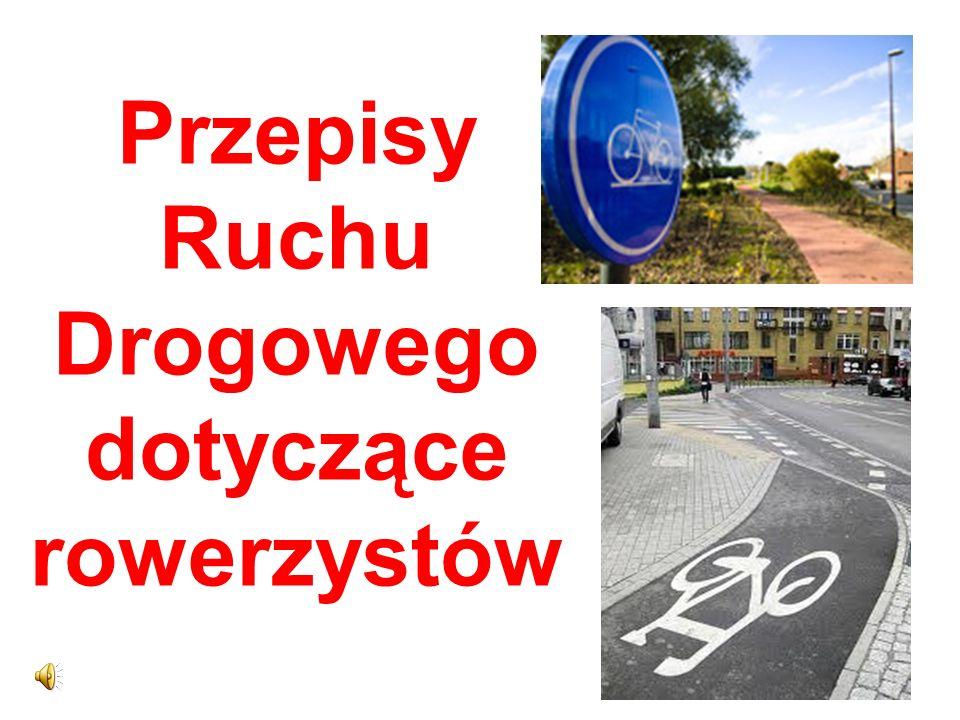 Przepisy Ruchu Drogowego dotyczące rowerzystów