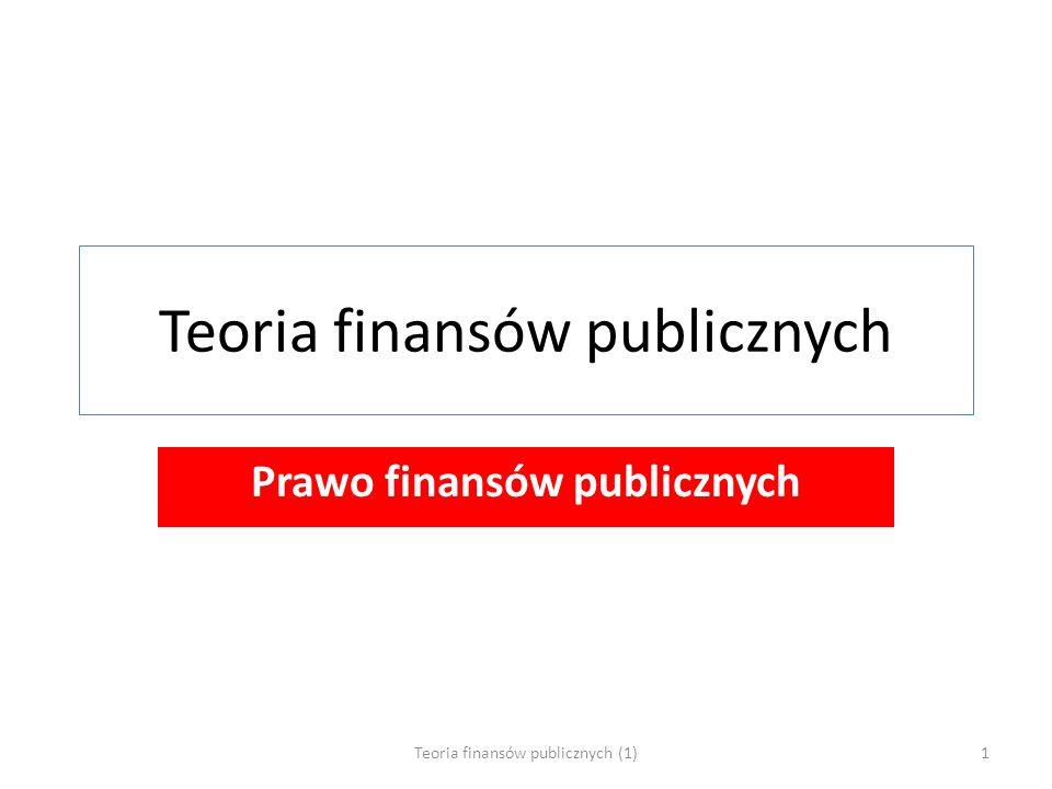 Teoria finansów publicznych