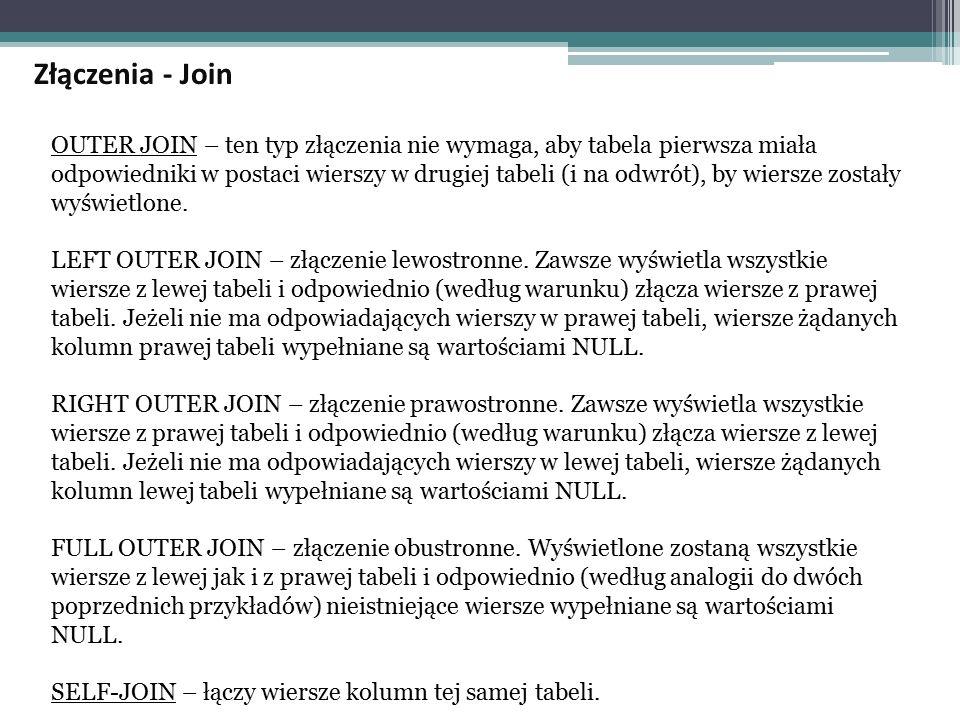Złączenia - Join