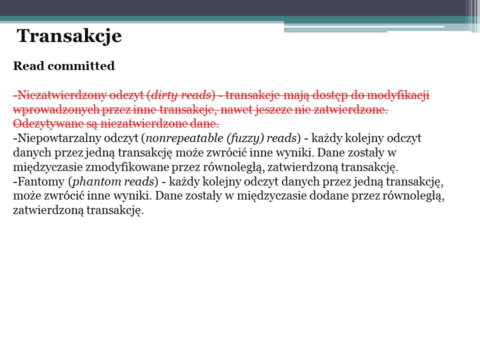 Transakcje Read committed