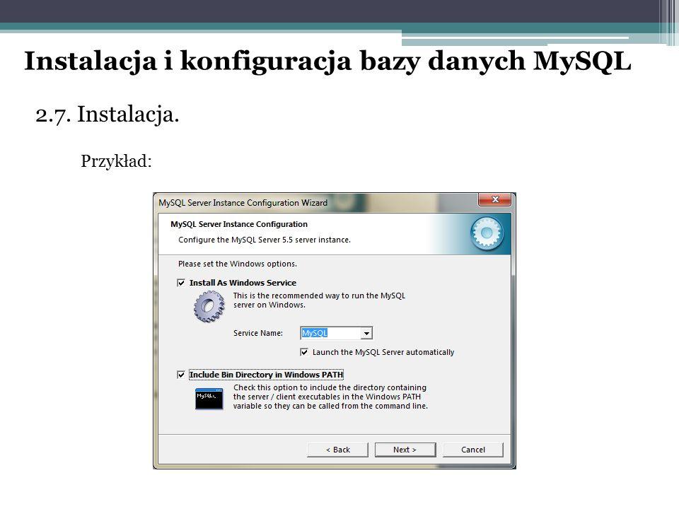 Instalacja i konfiguracja bazy danych MySQL