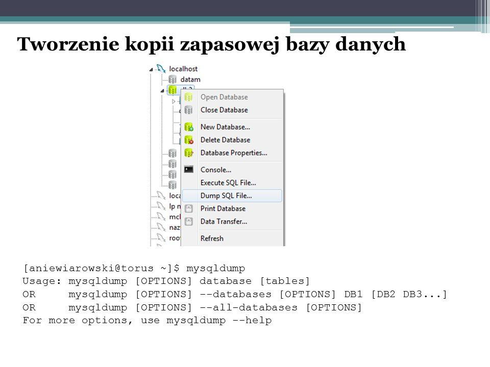 Tworzenie kopii zapasowej bazy danych