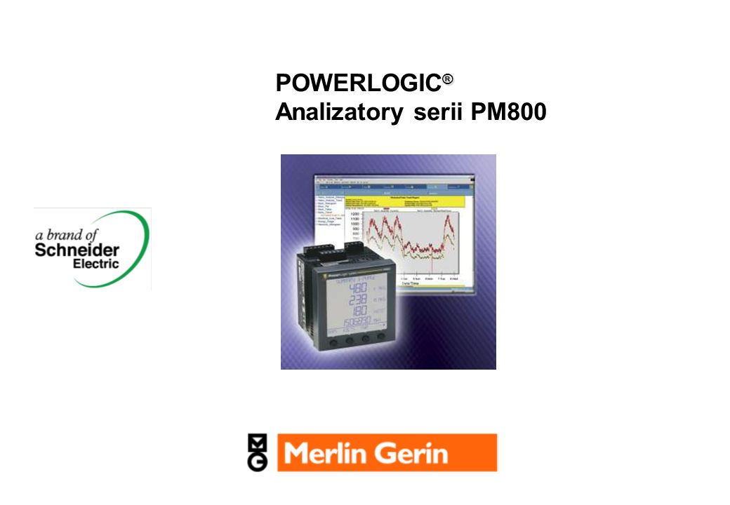POWERLOGIC® Analizatory serii PM800