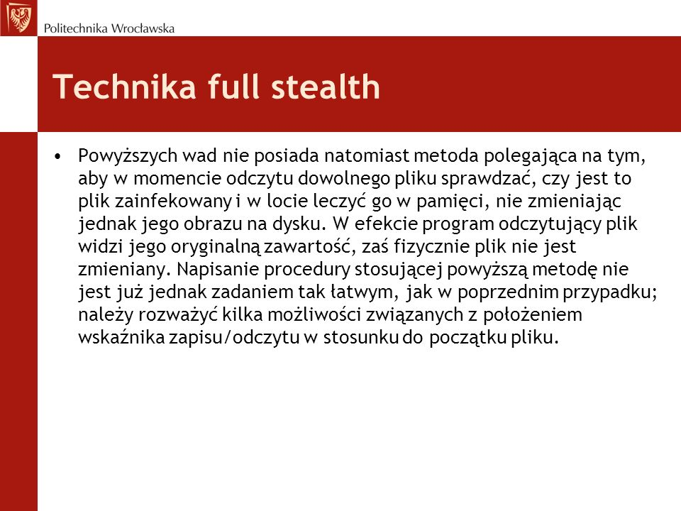 Technika full stealth