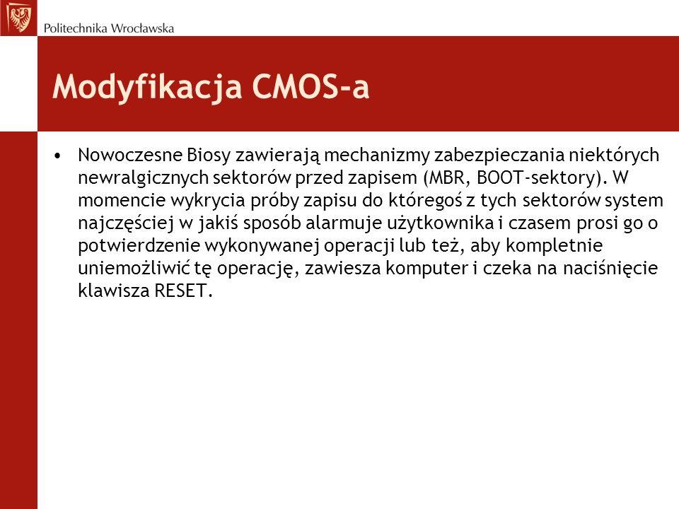 Modyfikacja CMOS-a