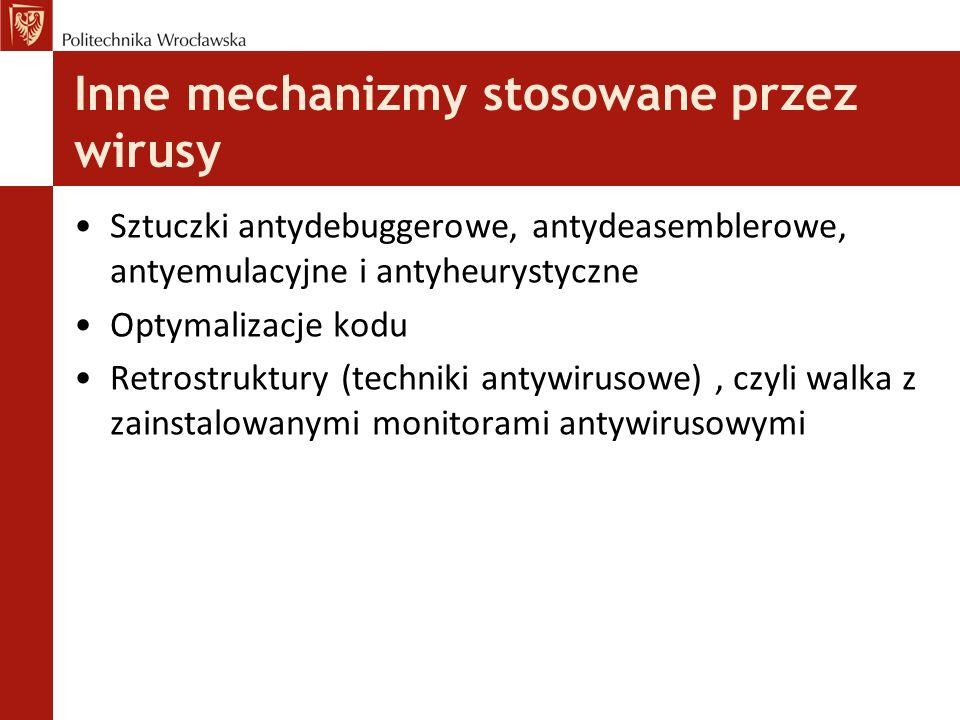 Inne mechanizmy stosowane przez wirusy