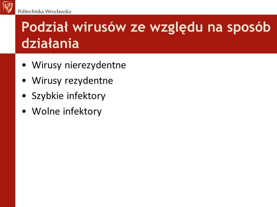 Podział wirusów ze względu na sposób działania