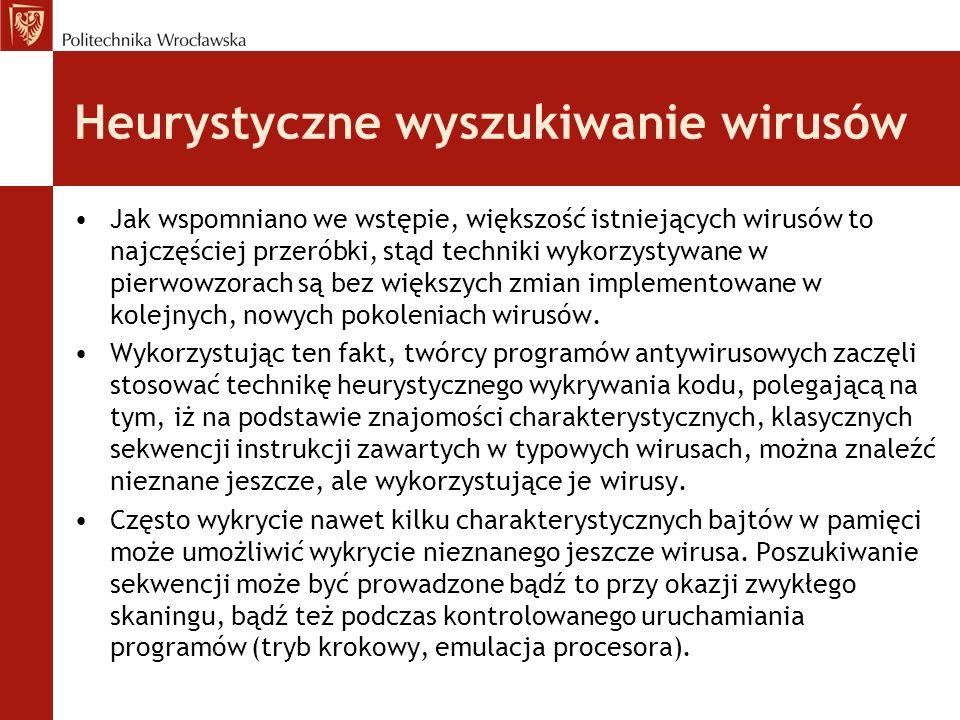 Heurystyczne wyszukiwanie wirusów