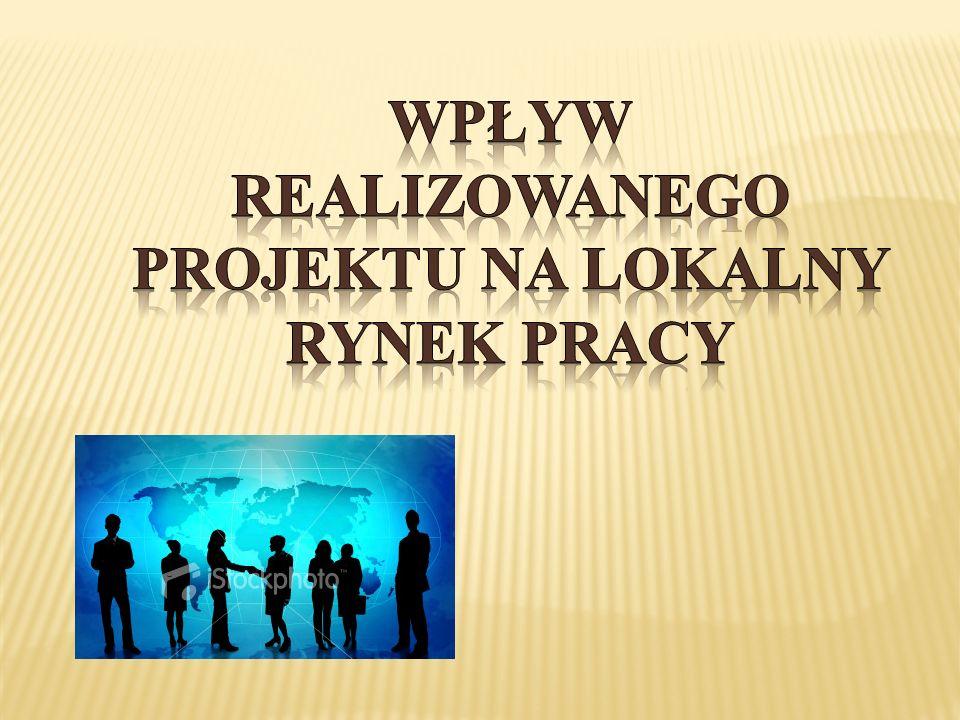 Wpływ realizowanego projektu na lokalny rynek pracy