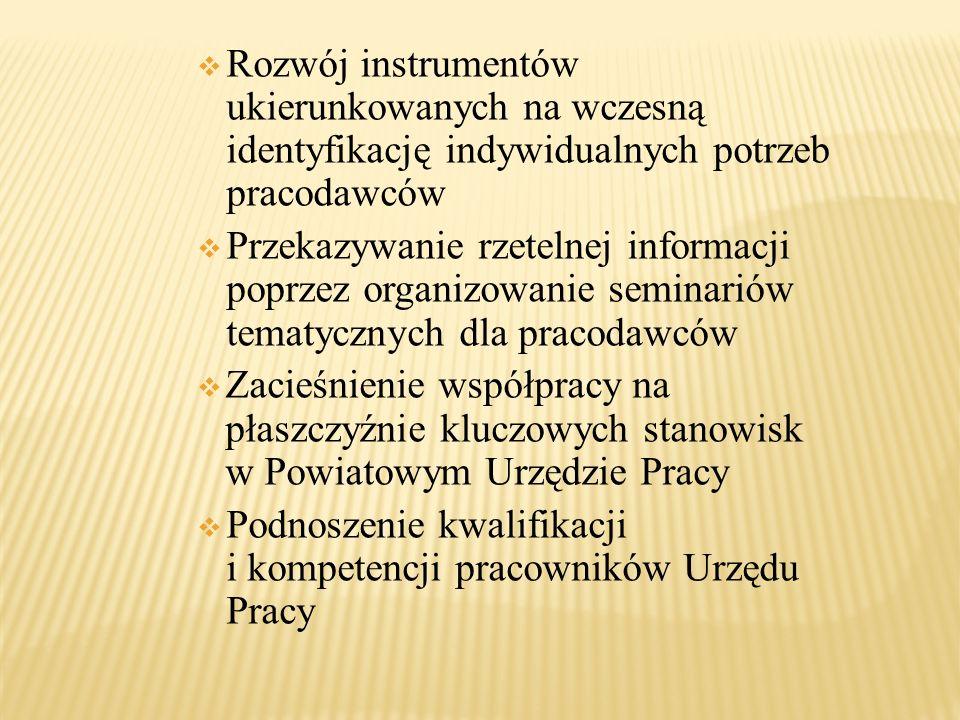 Rozwój instrumentów ukierunkowanych na wczesną identyfikację indywidualnych potrzeb pracodawców